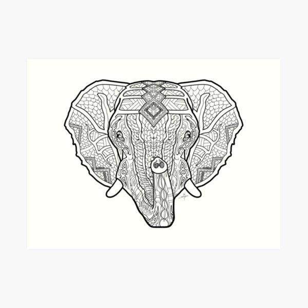 Norse Elephant Art Print