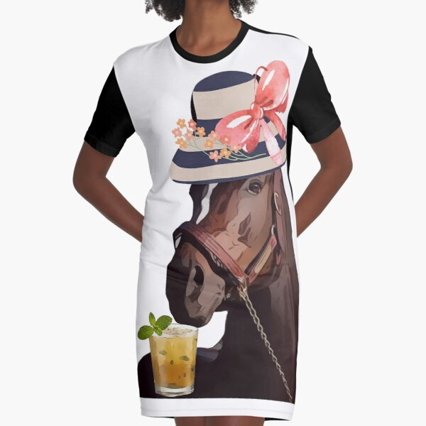 Funny Derby Party Horse Racing Shirt Graphic T-Shirt Dress