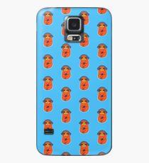 Happy Orange Sloth Musik hören Hülle & Klebefolie für Samsung Galaxy