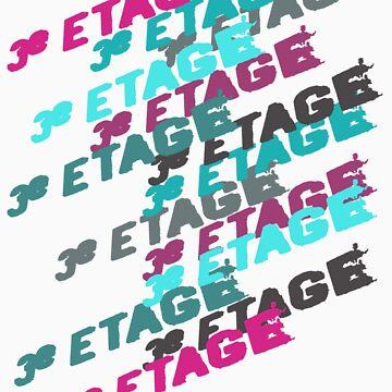 3e Etage • Fuchsia & Light Blue by MINGsign