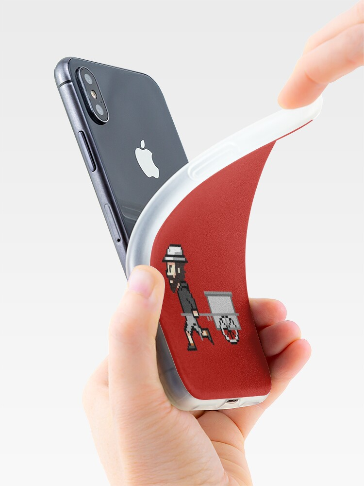 Alternative Ansicht von The Longest Pixel (crimson) iPhone-Hülle & Cover