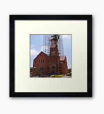 Church repairs Framed Print