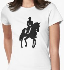 Dressage rider Womens Fitted T-Shirt
