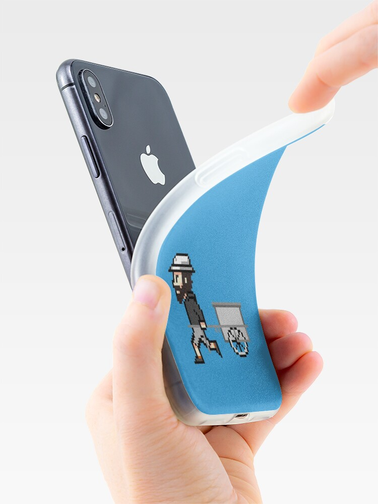 Alternative Ansicht von The Longest Pixel (light blue) iPhone-Hülle & Cover