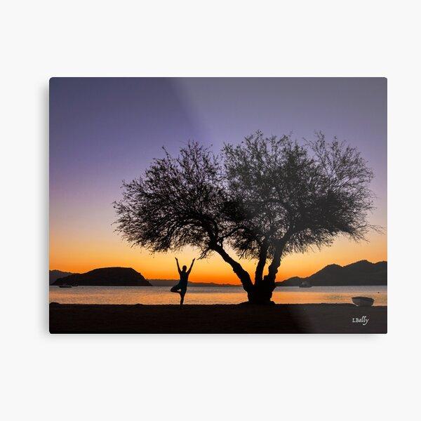 Tree Pose Metal Print