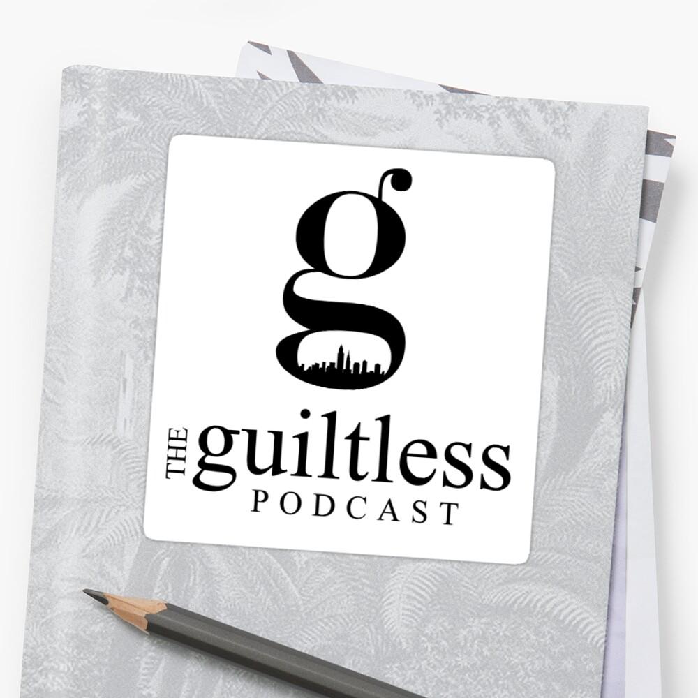The Guiltless Podcast Logo Sticker