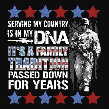 Vintage US Military Its In My DNA USA Flag Tshirt by normaltshirts