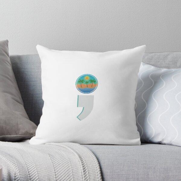 Semicolon Logo Throw Pillow
