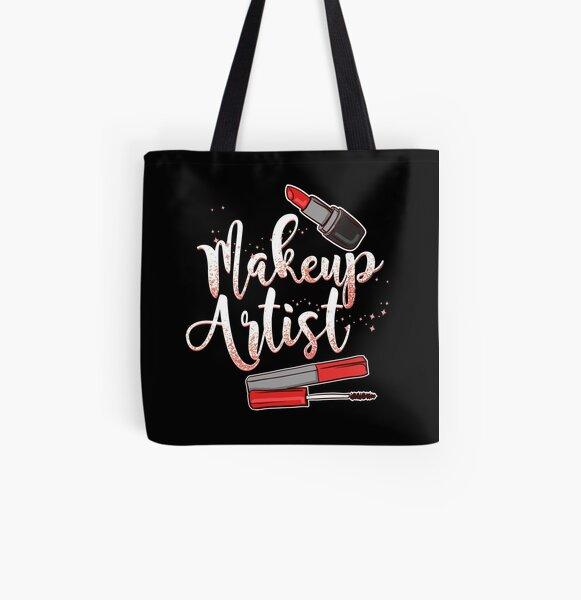 Makeup Artist Allover-Print Tote Bag