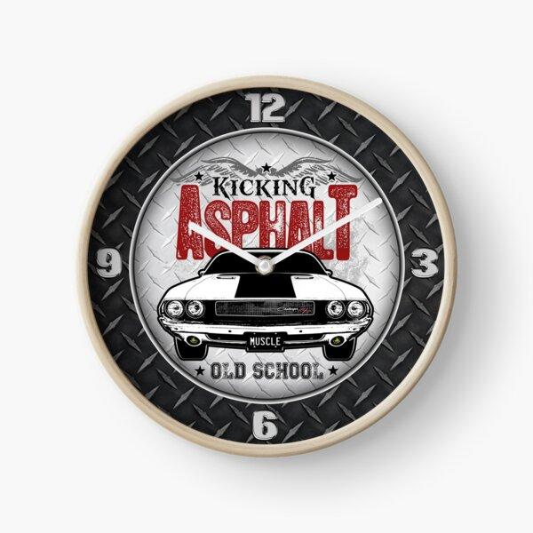 Kickin' Asphalt Old School - Challenger Clock Clock