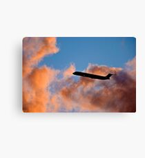 ...landing in clouds Canvas Print