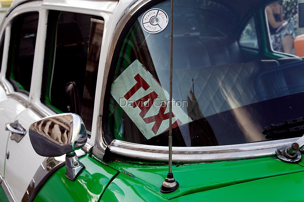Cuban taxi, Havana, Cuba by David Carton