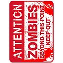 Zombies Beyond This Point Keep Out Zombie Sign With Blood Splash Ipad Case Skin By Alma Studio Redbubble