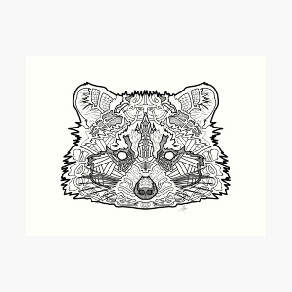 Norse Racoon Art Print