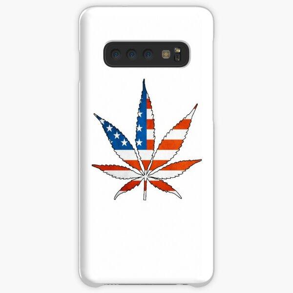 Marijuana Leaf American Flag Samsung Galaxy Snap Case