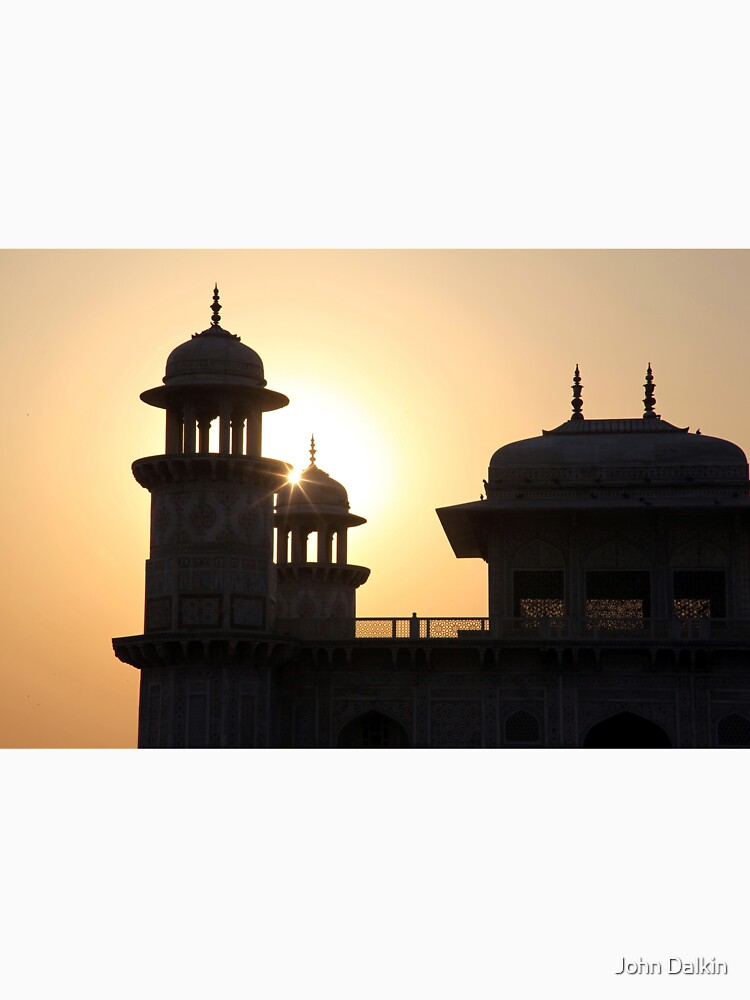 A Sunset Silhouette at the Itmad-ud-Daulah Mausoleum, Agra. by JohnDalkin
