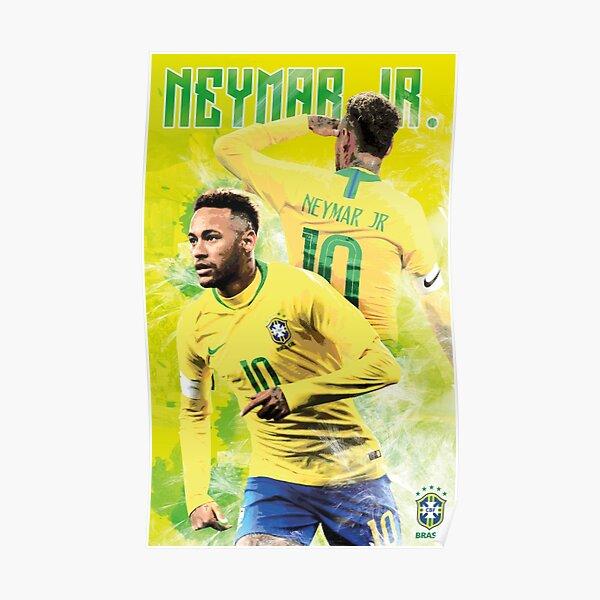 Neymar Jr du Brésil - Conception d'affiche Poster