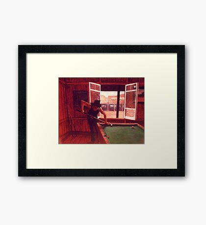 Plays as good as he rides! Framed Print