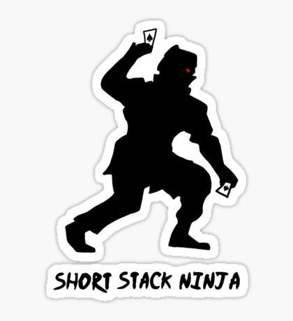 Short Stack Ninja Sticker