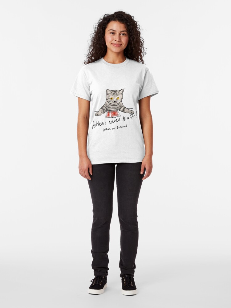 Alternate view of Bluffing Poker Kitten  Classic T-Shirt