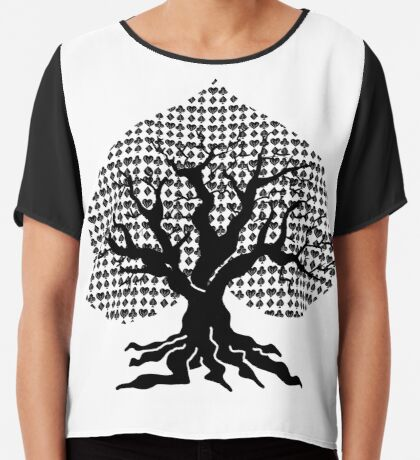 Poker Tree Chiffon Top