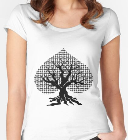 Poker Tree Fitted Scoop T-Shirt