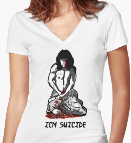 ICM Suicide Poker Fitted V-Neck T-Shirt