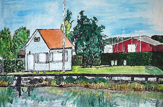 The Lake House, Switzerland by Monica Engeler