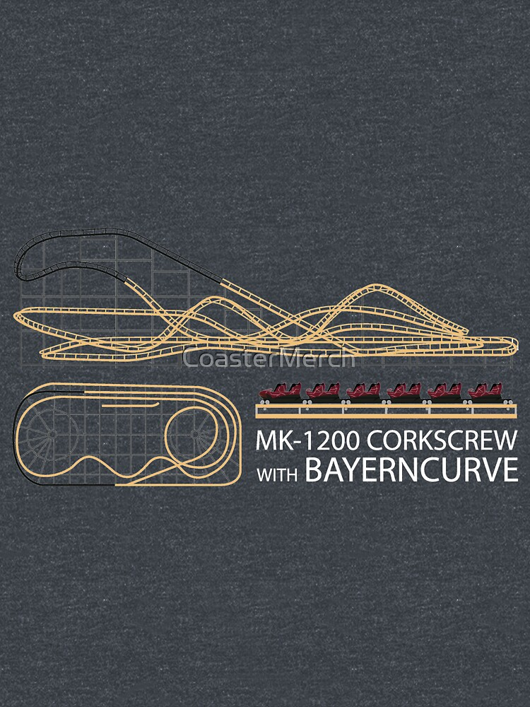 Corkscrew at Alton Towers Blueprint Design - Rollercoaster by CoasterMerch