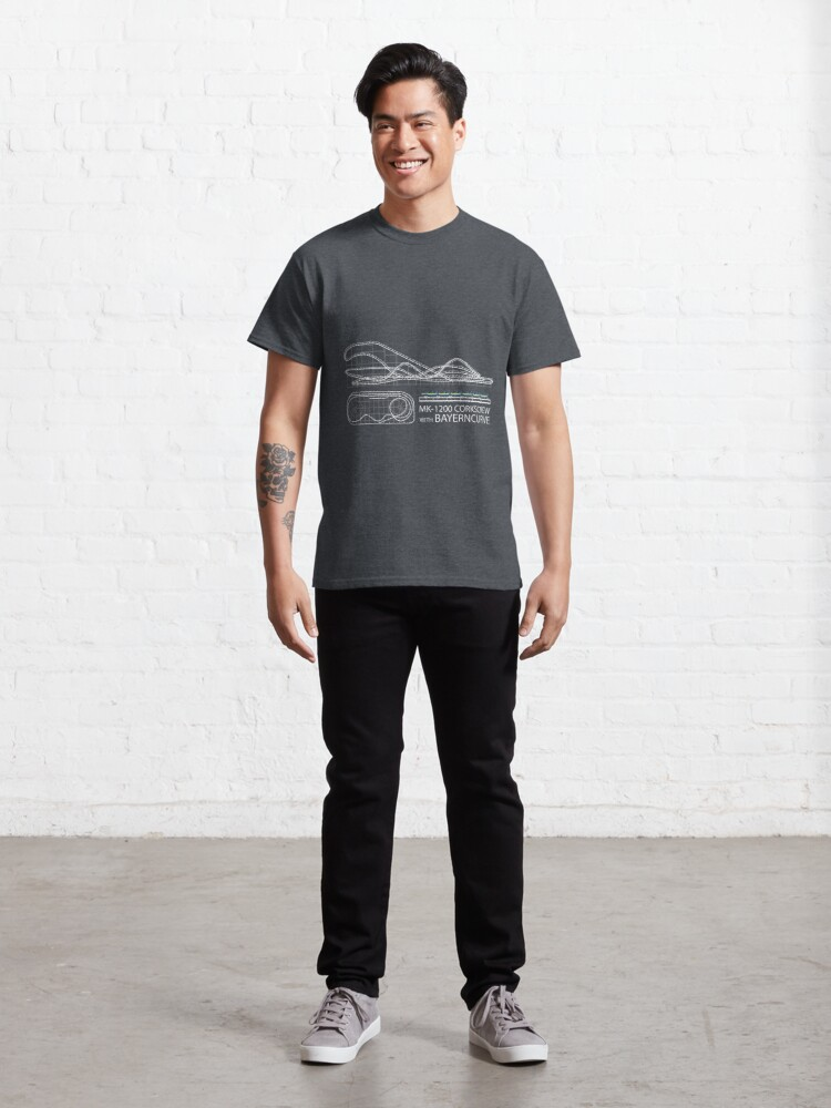 Alternate view of Corkscrew with Bayerncurve Design Classic T-Shirt