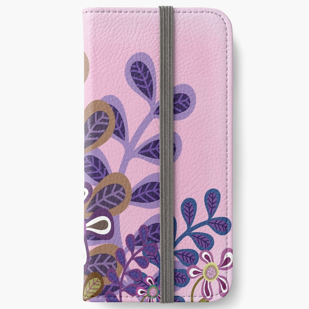 PLUM FOLIAGE iPhone Wallet