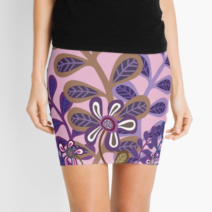 PLUM FOLIAGE Mini Skirt
