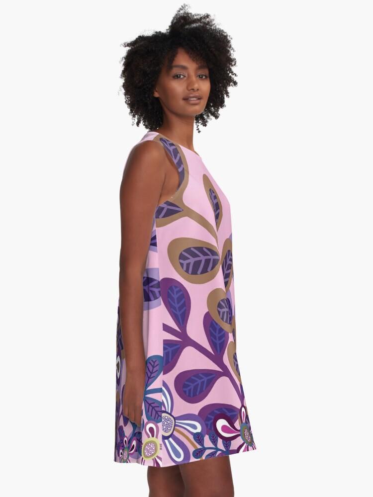 Alternate view of PLUM FOLIAGE A-Line Dress