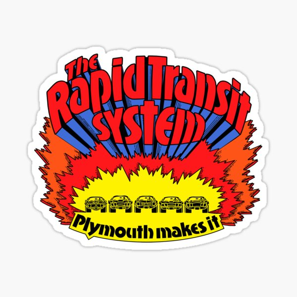 Rapid Transit System - Plymouth Makes It Sticker