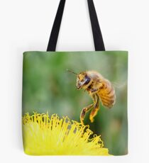 Touching a Golden Meadow Tote Bag