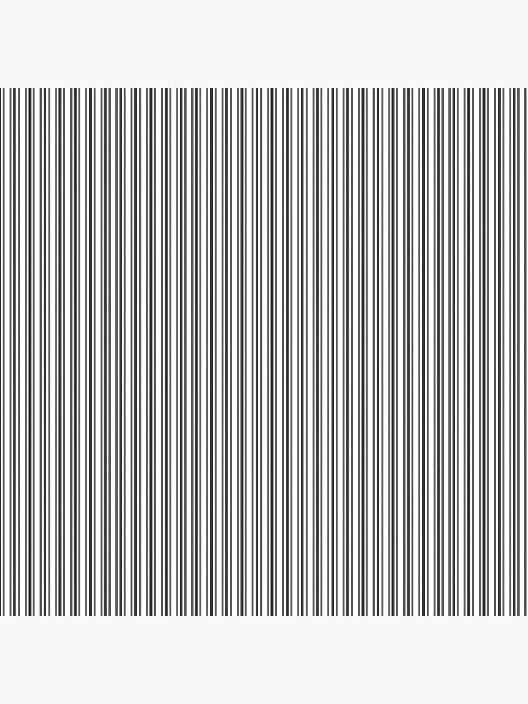 Trendy French Black and White Mattress Ticking Double Stripes by honorandobey