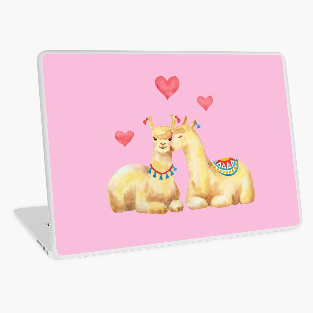 Llamas in llove 2 Laptop Skin