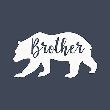 Country Style Brother Bear Silhouette Fun Design by Andrewkgolf
