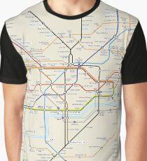 Londoner U-Bahn Grafik T-Shirt