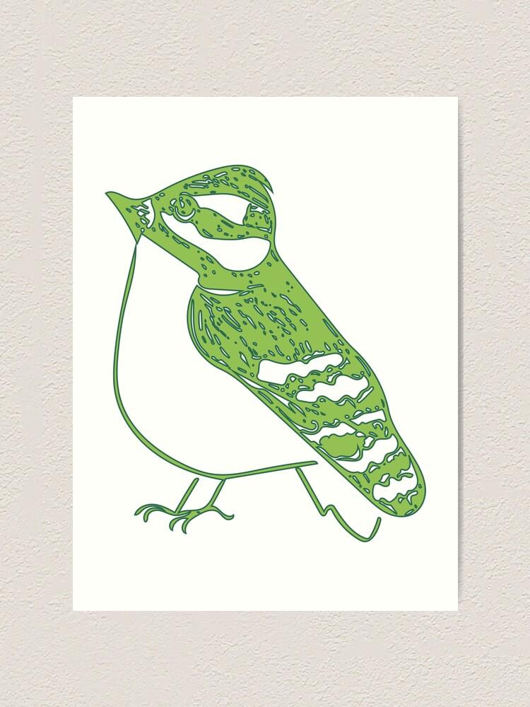 Alternate view of Green Bird Art Print