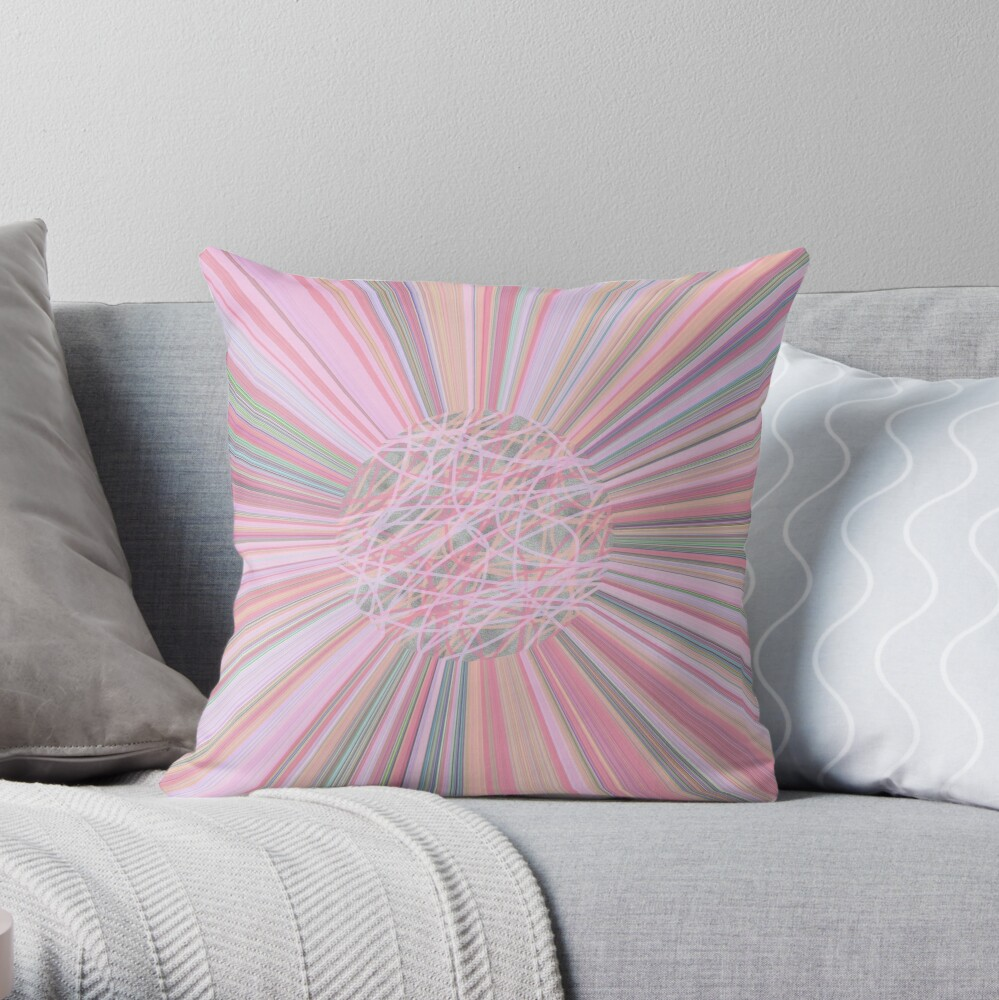 Pastel Planet Burst  Design Gift Throw Pillow