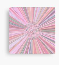 Pastel Planet Burst  Design Gift Canvas Print