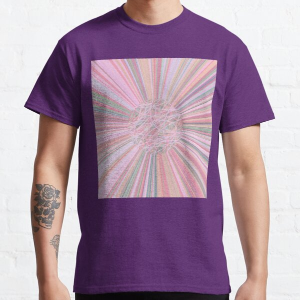 Pastel Planet Burst - Abstract Digital Art in Pastels  Classic T-Shirt