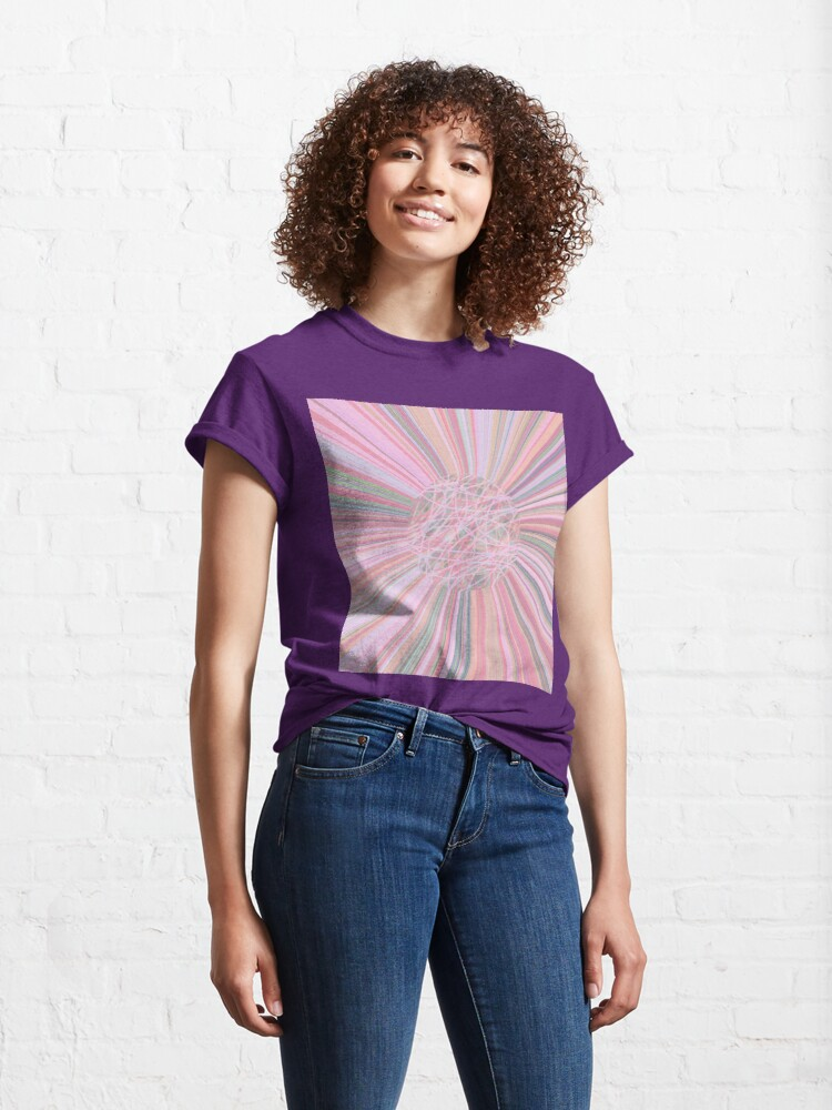Alternate view of Pastel Planet Burst - Abstract Digital Art in Pastels  Classic T-Shirt