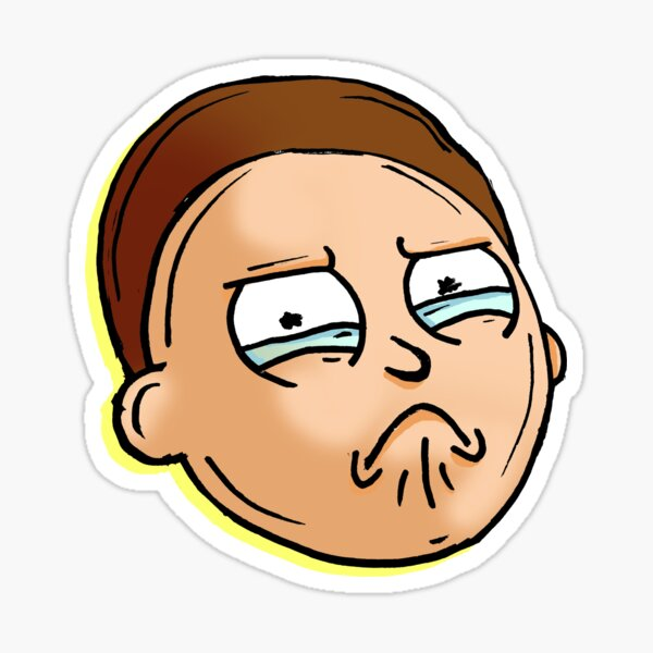 Teary Eyed Morty Smith from Rick and Morty Sticker