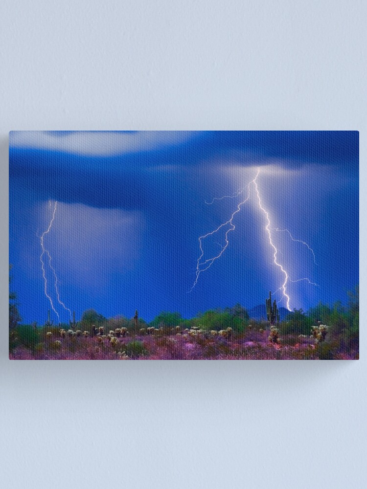 Alternate view of Colorful Sonoran Desert Storm Canvas Print