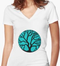 The Wisdom Tree Fitted V-Neck T-Shirt