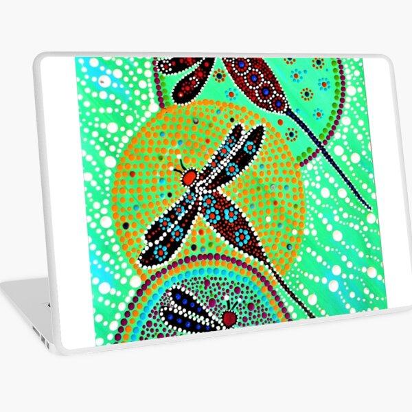 Dragon flies on Pond Laptop Skin