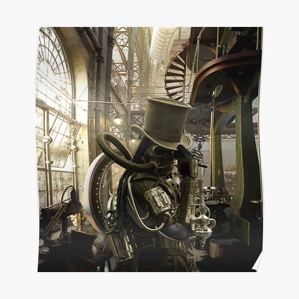 Mon laboratoire secret de Steampunk Poster