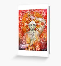 Materia: Fire Greeting Card